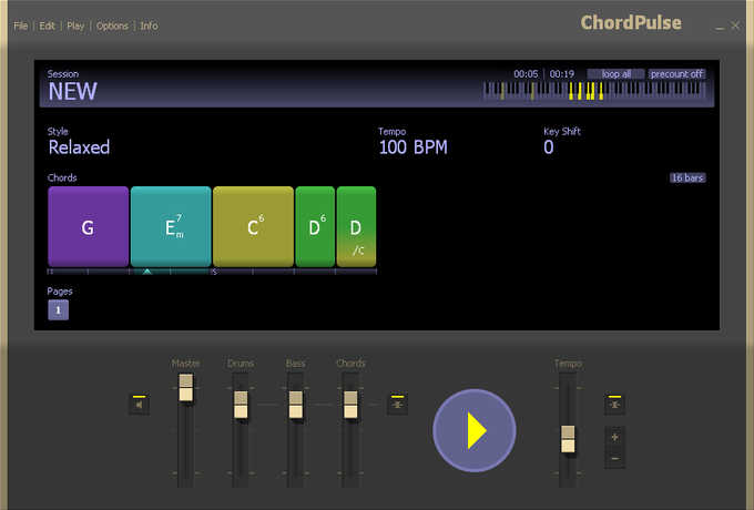 Click to view ChordPulse 1.1 screenshot