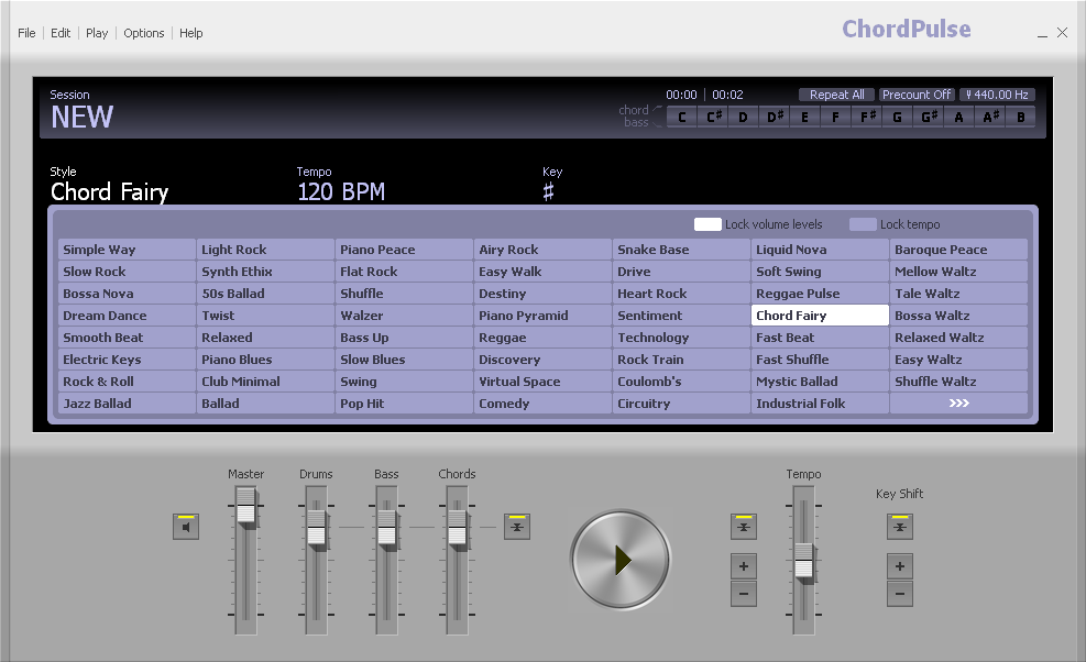 Chordpulse Software To Create Backing Tracks Explore Chords