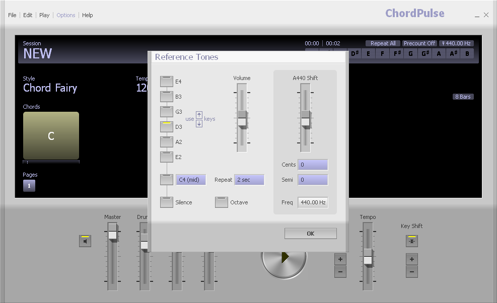 ChordPulse - Software to Create Backing Tracks & Explore Chords