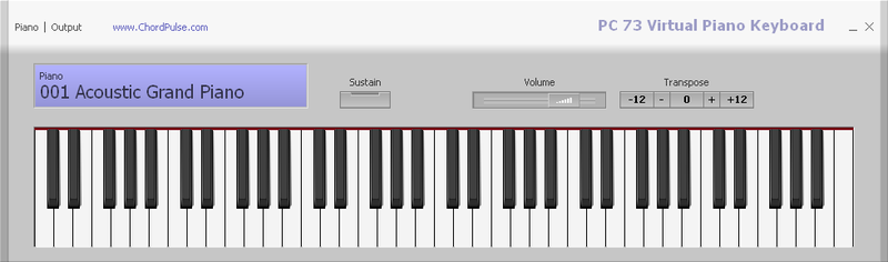 PC 73 Virtual Piano Keyboard 1.0 full